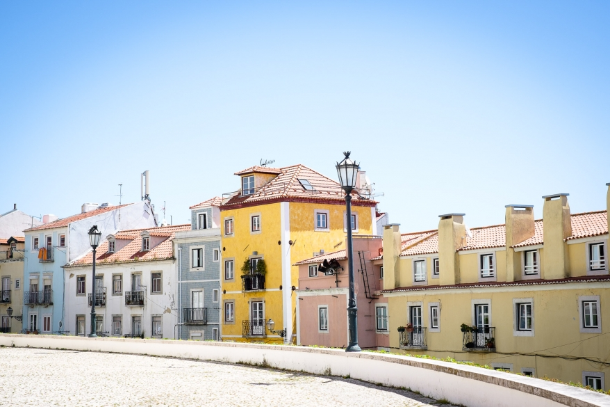 Colourful houses, Lisbon