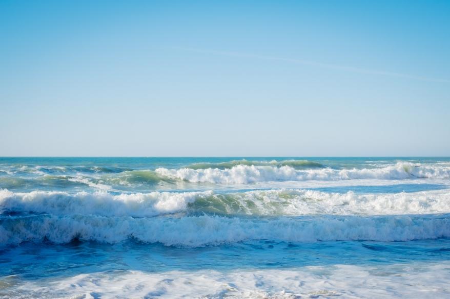 Havsvågor. Foto.