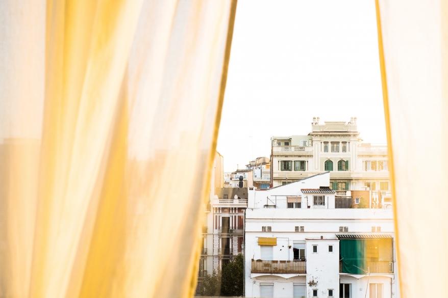 Utsikt från hotellrum, Barcelona