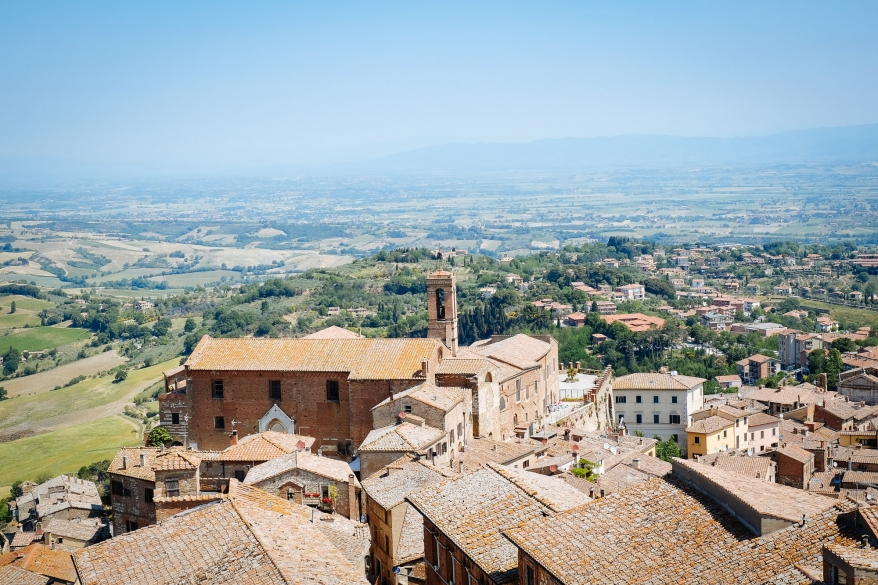 View from tower in Montepulciano