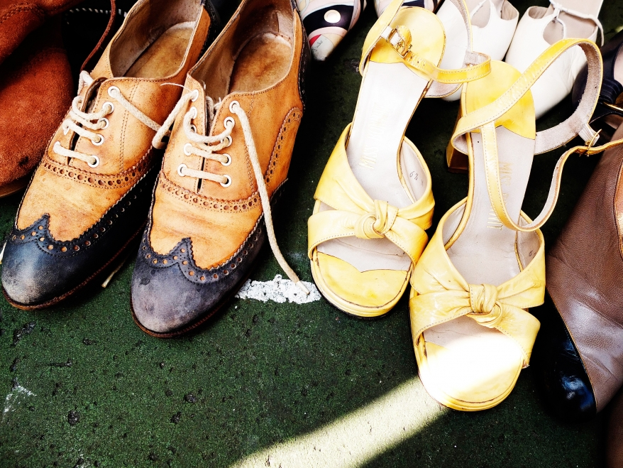 Vintage shoes, flea market, New York