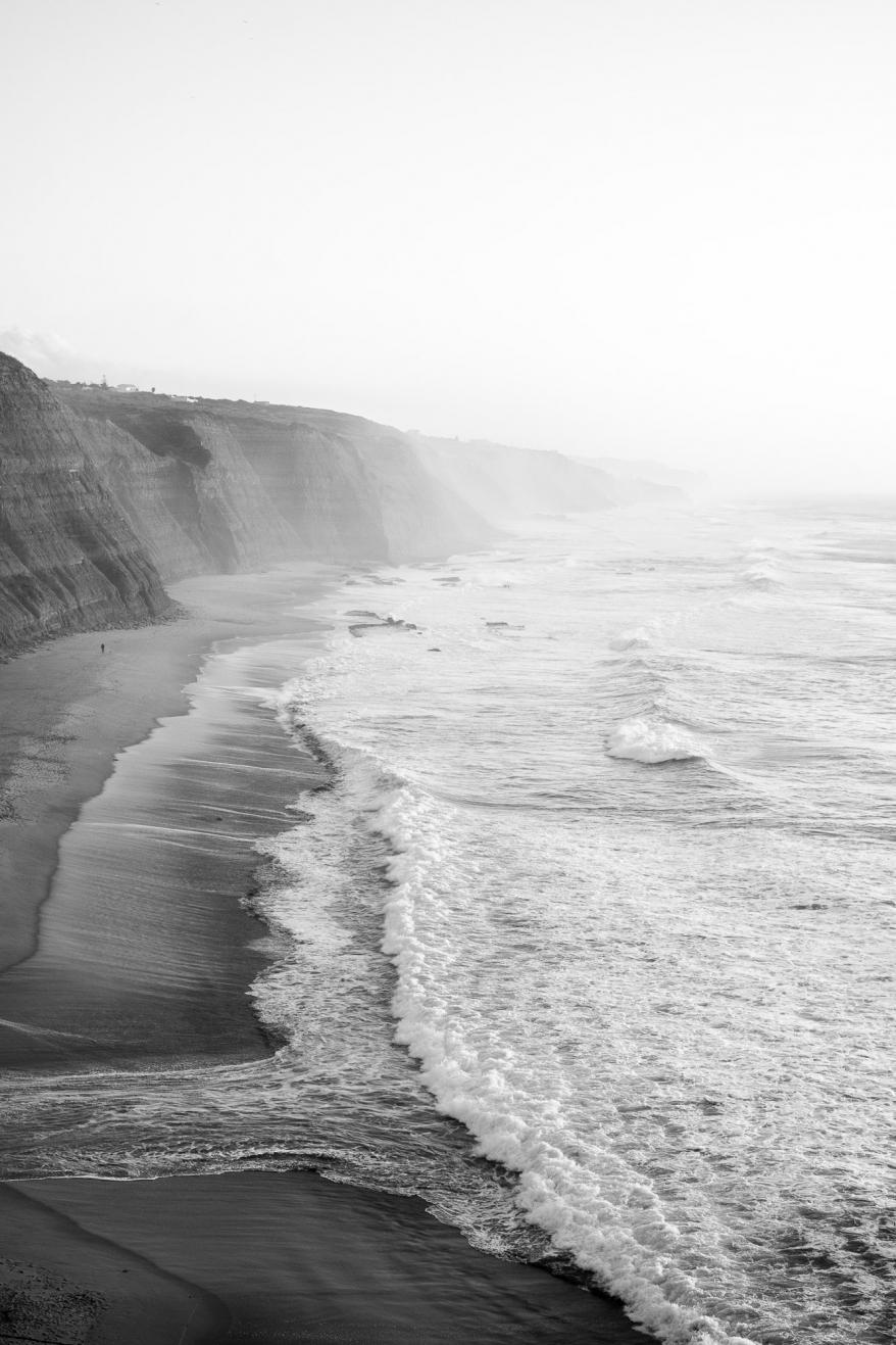 Vidsträckt strand Portugal