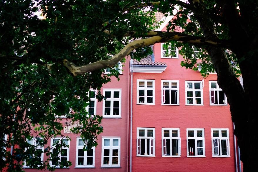 Rosa hus i Köpenhamn