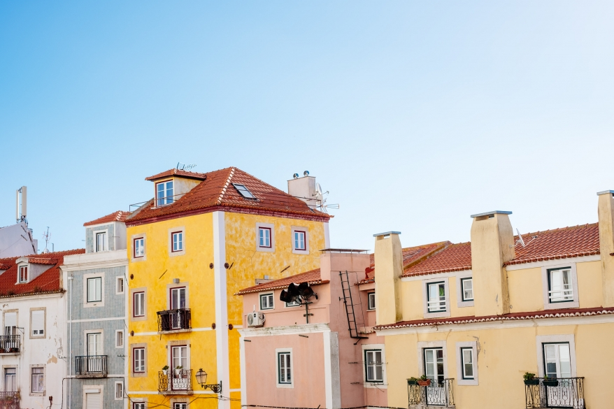 Colorful houses, Lisbon