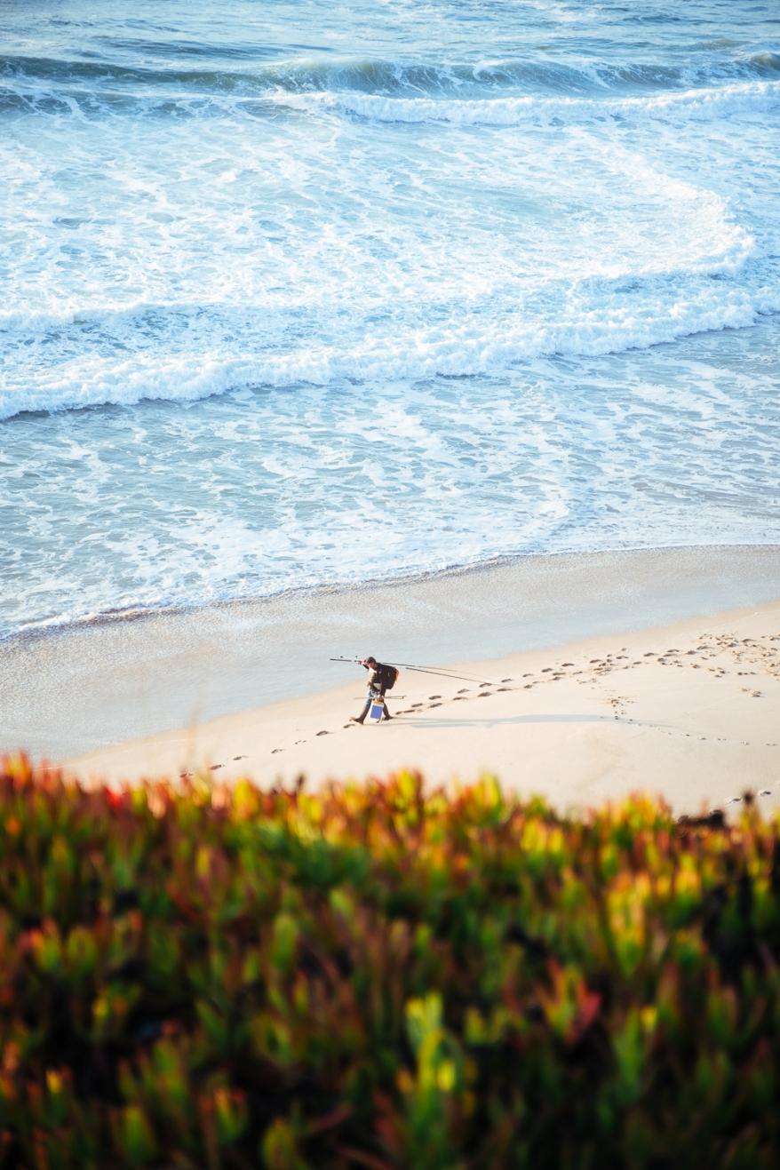 Fisherman on the beach. Photographer: Helena Bergqvist.