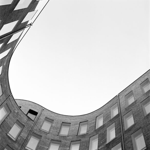 Curved building. Photographer: Helena Bergqvist.