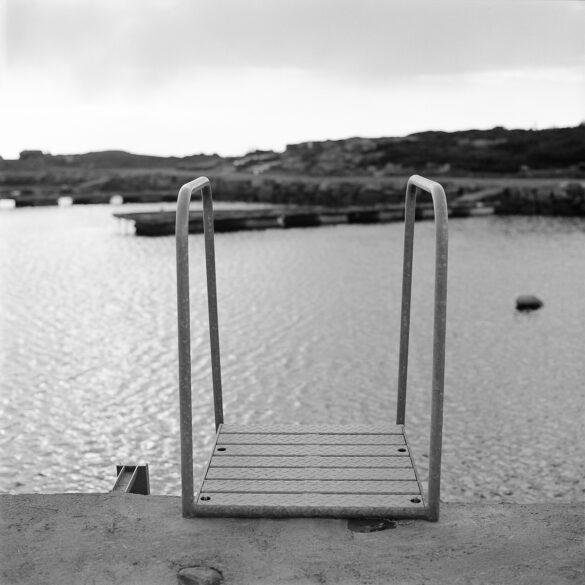 Ladder in a harbour. Photographer: Helena Bergqvist.